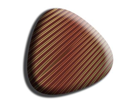 Triangular striped chocolate top view Banco de Imagens