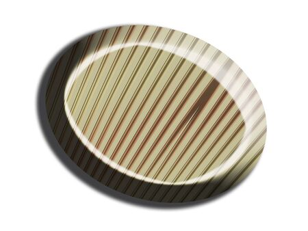 Striped chocolate top view Imagens