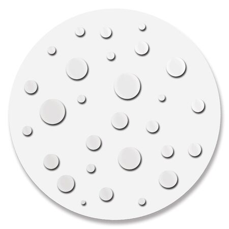 Dotted grey circle decoration Stock Photo