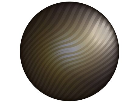 Dark striped circle background isolated on white