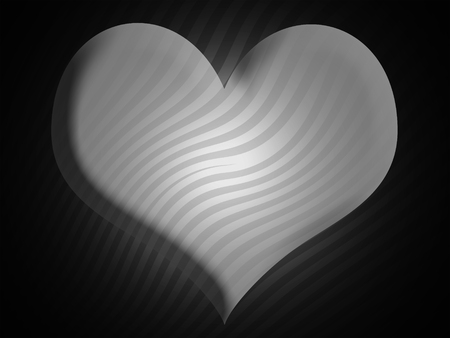 Black and white heart shape background