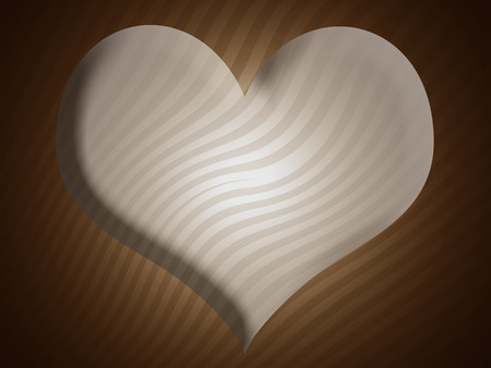 Heart shape and stripes background Stock Photo