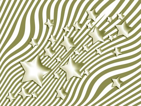 Striped background with stars Stock Photo