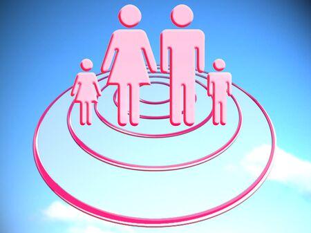Family ovni travel stock image