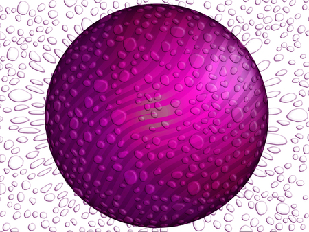 Purple circle background with water drops texture