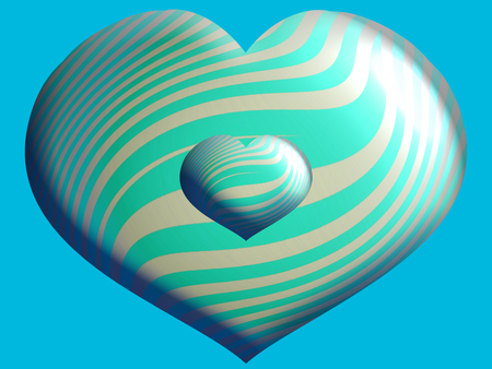 Blue heart shaped balloon close up