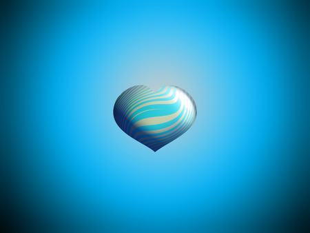 Blue freedom balloon background