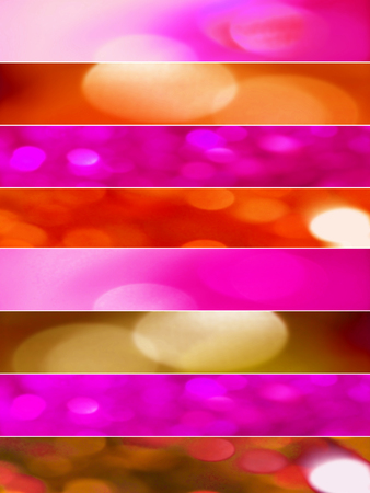 Pink and red colorful lights abstract backgrounds banners