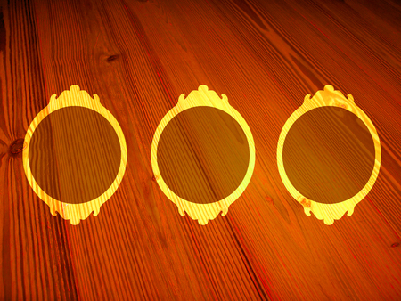 Wood circular frames background Stock Photo