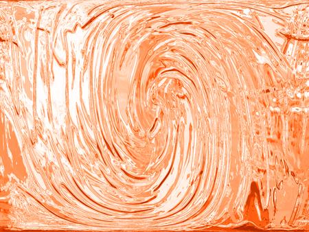 Orange paint spiral background texture