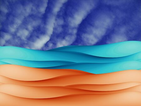 Sand river and sky abstract background Stock Photo