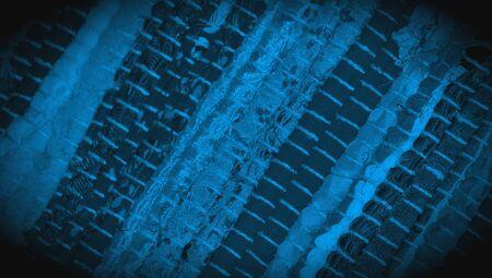 Cloth carpet striped blue textured background