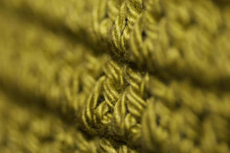 Olive green knots crochet background