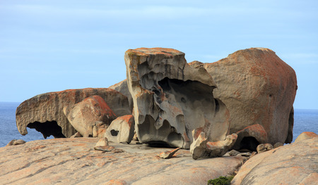 Remarkable Rocks, in the southern part of the Flinders Chase National Park Stock Photo