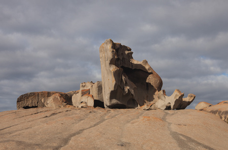 Remarkable Rocks, in the southern part of the Flinders Chase National Park. Stock Photo