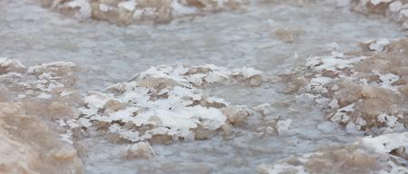 Dead Sea salt stones at the Dead Sea