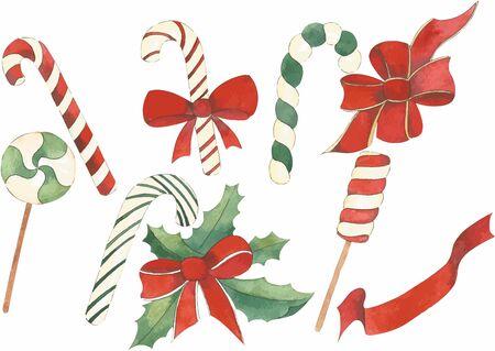 Kerst set vector Stock Illustratie