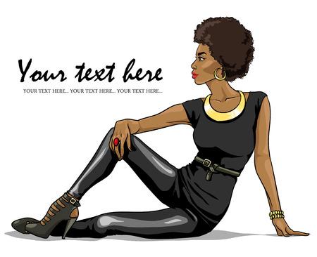 Portrait of beautiful black woman