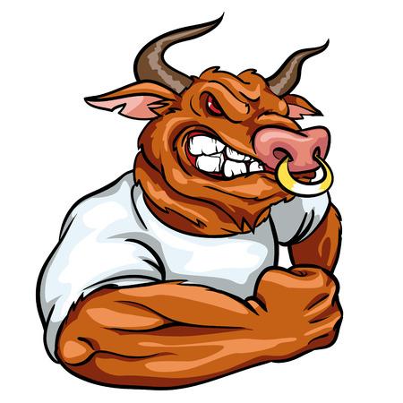 animal mouth: Animal mascot, team label design.