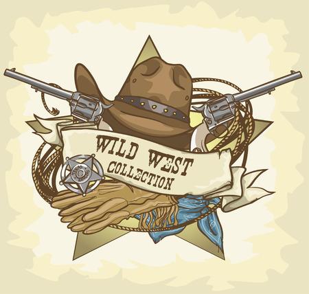 Wild West label Ilustração