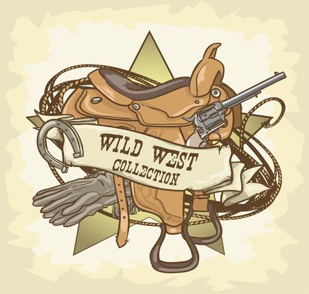 Wild West label Stock Illustratie