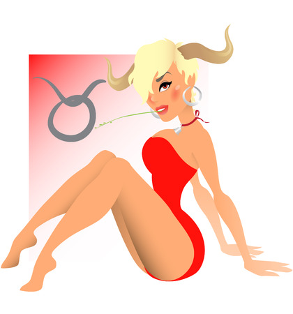 animal sexy: Zodiac signs - Taurus Illustration