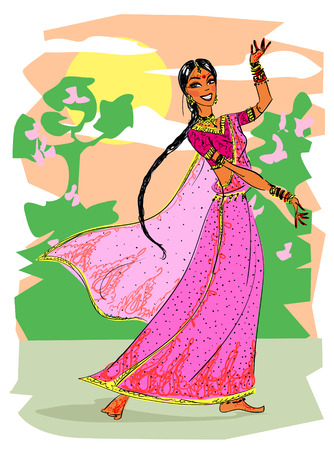 tänzerinnen: Indian woman dancing