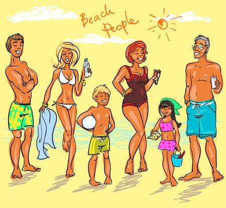 Beach People Illustration