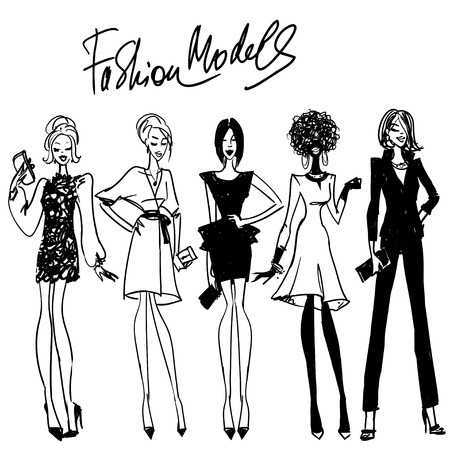 girls night out: Fashion Models