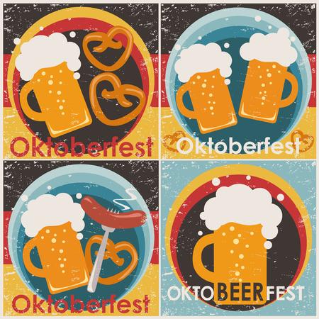 Oktoberfest backgrounds, set. Set of eer coaster designs.