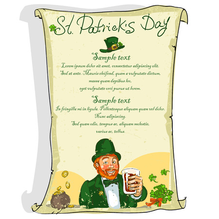 patricks: St. Patricks Day poster with space for text Illustration
