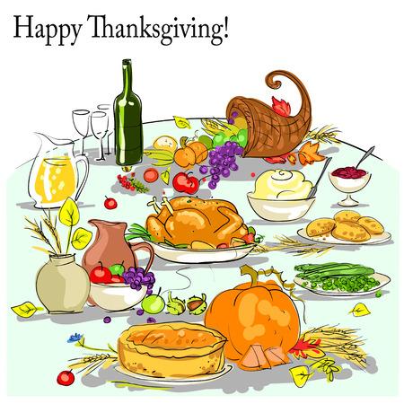 Thanksgiving background with space for text. Card design Illusztráció