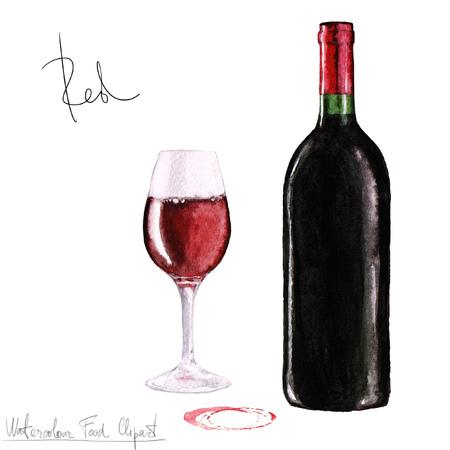 Aquarela Food Clipart - Vinho