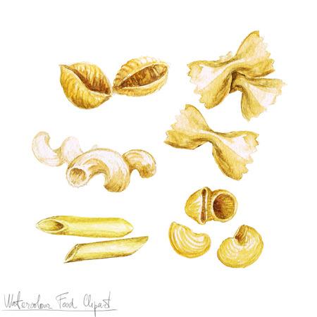 Watercolor Food Clipart - Pasta