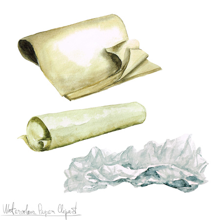 watercolor paper: Watercolor Paper Clipart - Wrapping Paper