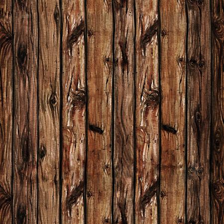 Watercolor Naadloos patroon - Houten Planken Stockfoto
