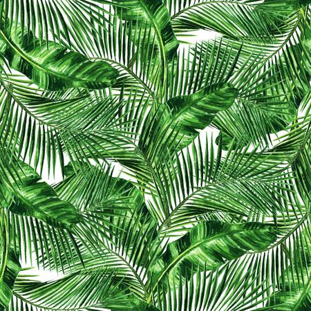 Watercolor Naadloze patroon - Tropische achtergrond