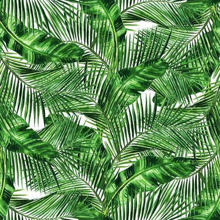 Watercolor Seamless pattern - Tropical background