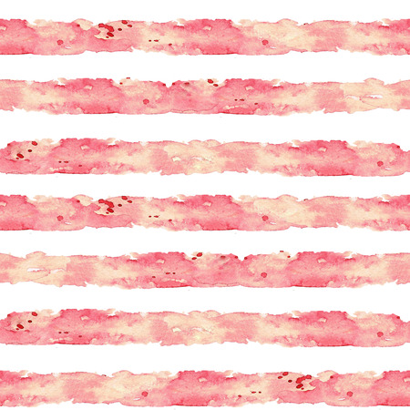 Stripes. Aquarel naadloze patroon. Stockfoto