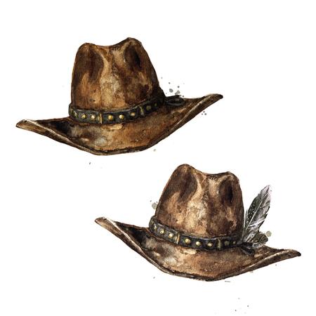Cowboyhut . Aquarellillustration Standard-Bild