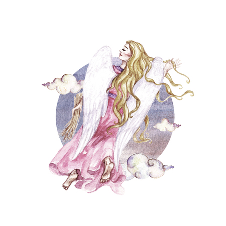 Zodiac sign - Virgo. Watercolor Illustration
