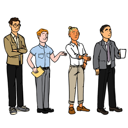 Business People - Men 向量圖像