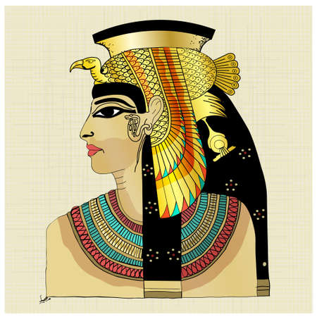 Pharaoh with blue red yellow colors