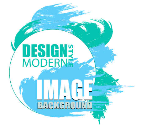 Colorful round abstract shape. Frame for text and labels in the style of Modern Art graphics for hipsters. Vector illustration.