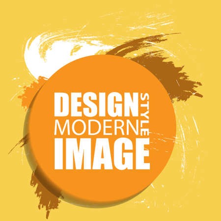 Round abstract shape. Colors for fall season. Frame for text and labels in the style of Modern Art graphics for hipsters. Vector illustration. Illusztráció