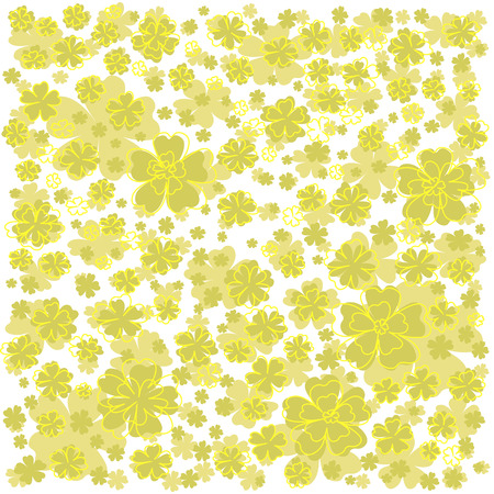 Bright yellow pattern with lined and colored flowers elegant bright yellow pattern with lined and colored flowers elegant flower pattern on white background mightylinksfo