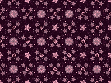 Detailed vector seamless pattern with flower ornament on dark red background