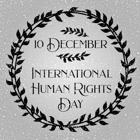 International human rights day vector design