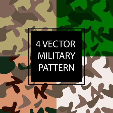 Four multi-colored camouflage. Military pattern for print