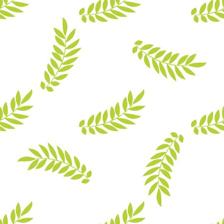 branches with leaves: Vintage floral seamless pattern. Vector green leaves branches ornament in retro style. Seamless pattern for cards, wallpapers, backgrounds for a valentines day, wedding. Illustration